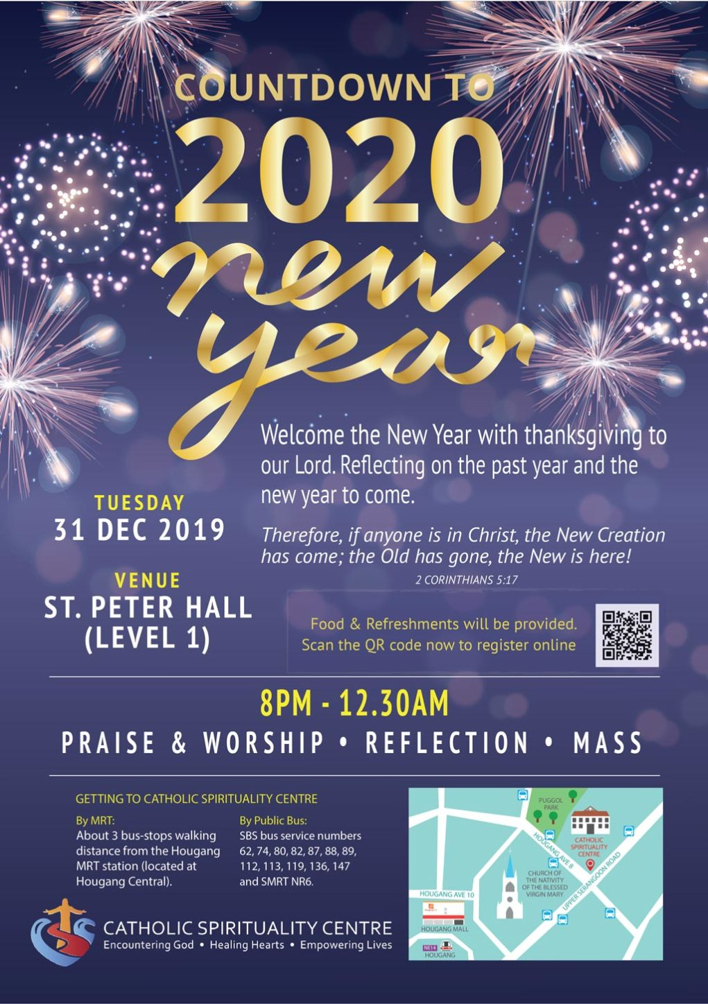 Countdown to 2020 at Catholic Spirituality Centre (CSC) Singapore